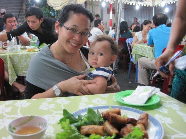 Dinner at the Ben Thanh Market, HCMC